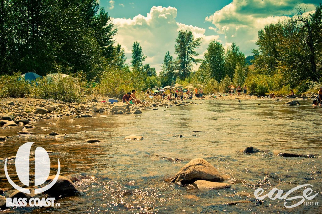 A warm river flows through Nicola Valley, providing some cool relief from the daytime scorch